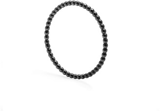 Myia Bonner Skinny Sphere Stacking Ring Oxidised Silver