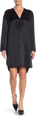 Vince Satin Silk Tunic Dress