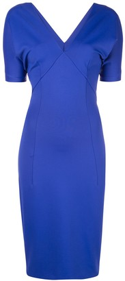 Haider Ackermann V-neck fitted dress