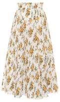 Zimmermann Golden plissé midi skirt