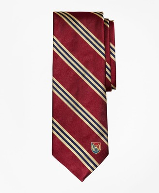 Brooks Brothers Limited Edition Archival Collection BB#1 Striped Rep with Crest Silk Tie