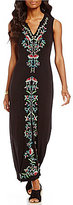 Chelsea & Theodore Embroidered Maxi Dress