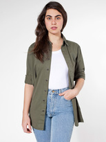 American Apparel Unisex Cotton Twill Long Sleeve Button-Up with Pocket