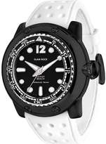 Glam Rock Men's Miami Beach 50mm White Silicone Band Quartz Watch Gr20026