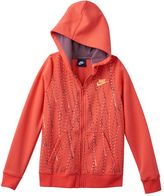 Nike Girls 7-16 Polka Dot Graphic Zip-Up Hoodie
