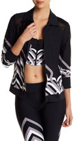 Trina Turk Colorblock Lattice Jacket