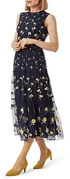 Hobbs London Bethany Tiered Mesh Dress