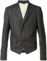 Vivienne Westwood Man - pinstripe short blazer - men - Viscose/Wool - 50