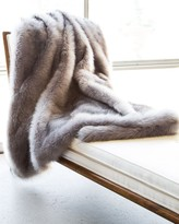 The Well Appointed House Silver Fox Faux Fur Blanket