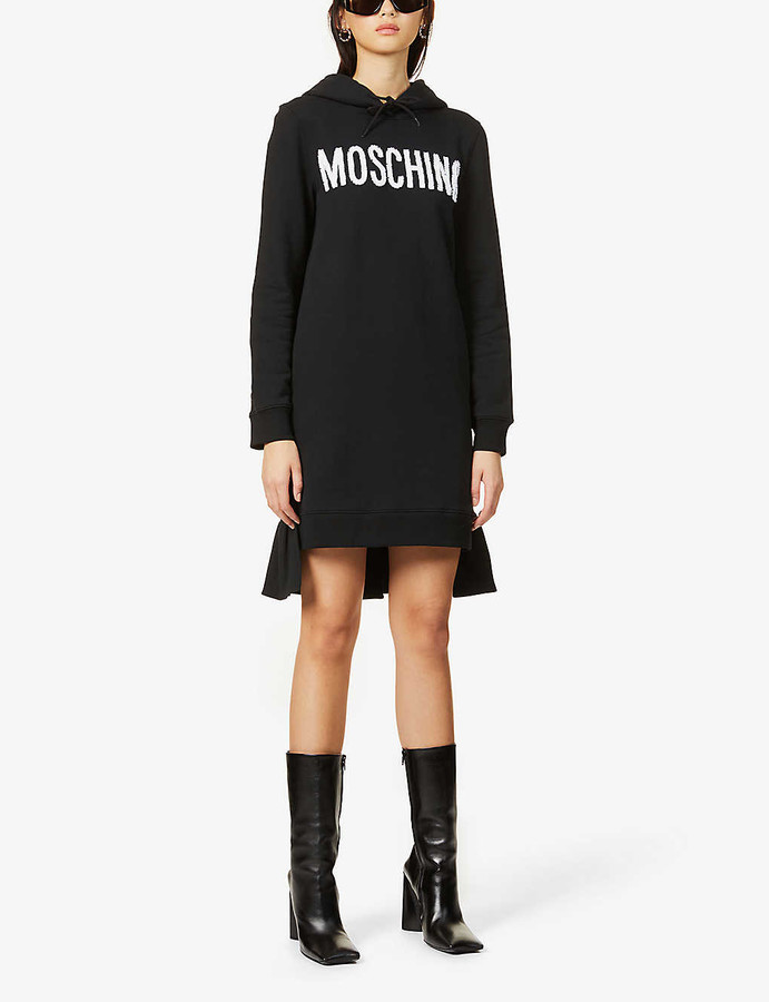 Moschino Logo-embroidered cotton-jersey hoody