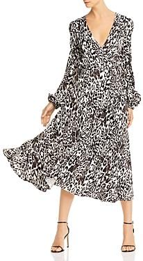 Milly Gina Leopard Print Jacquard Midi Dress