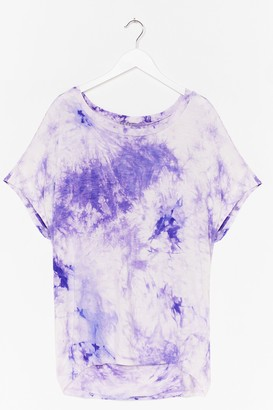 Nasty Gal Womens Bright Ideas Relaxed Tie Dye Tee - Lilac