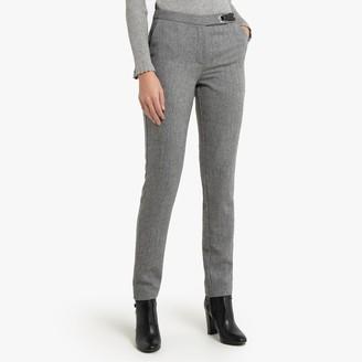 """Anne Weyburn Slim Fit Tweed Trousers, Length 30.5"""""""