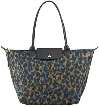 Longchamp Le Pliage Panther Large Shoulder Tote Bag