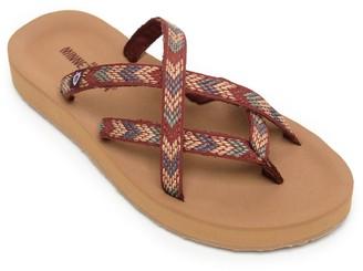 Minnetonka Multi Strap Thong Flip Flop Sandals- Hanna
