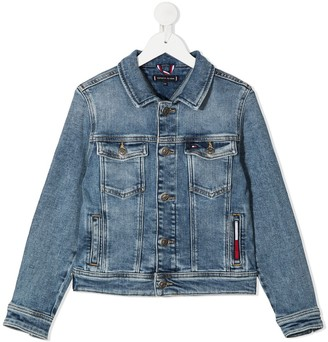 Tommy Hilfiger Junior Stonewashed Denim Jacket