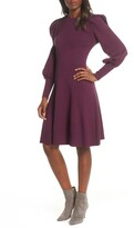 Long Sleeve Fit And Flare Dress Shopstyle