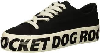 Rocket Dog Women's Milkyway RENN Cotton/RD Foxing Sneaker Black 11 M US