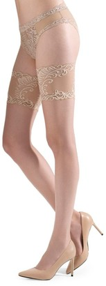 Natori Silky Sheer Lace Thigh Highs