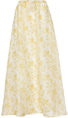 Sir. Clementine cotton and silk maxi skirt