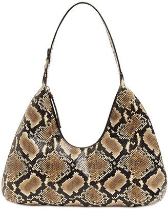 BY FAR Amber Printed Semi Patent Leather Bag