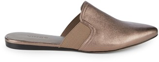 Vince Nadette Metallic Leather Mules