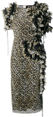 Antonio Marras Ruffled Leopard Print Dress