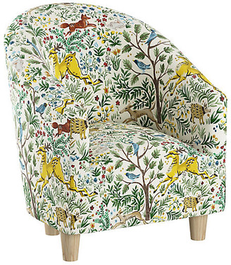 One Kings Lane Ashlee Kids' Chair - Citrus Linen - Natural/Citrus/multi