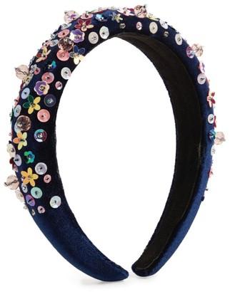 Bari Lynn Floral Sequin Hairband