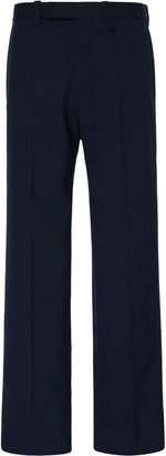 Oamc Public Stretch-Wool Straight-Leg Pants