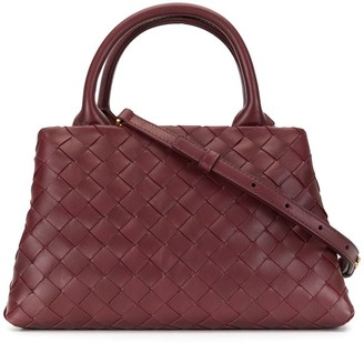 Bottega Veneta Woven Leather Top-Handle Bag