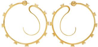 Panconesi Gold Crystal Upside Down Hoops