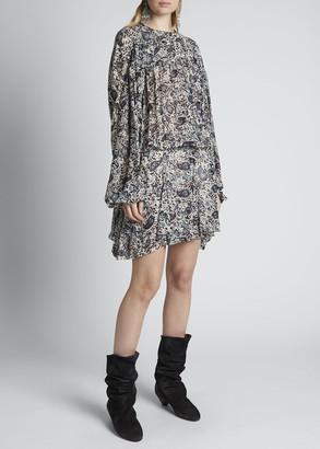Etoile Isabel Marant Nimazu Paisley Blouson Dress
