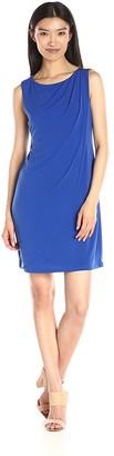 Jessica Simpson Women's Sleeveless Ity Dress with Front Drape