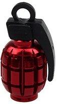 Grenade Alloy Valve Caps ,BeautyVan 2PCS Grenade Alloy Valve Caps Dust Covers MTB BMX Car (C)