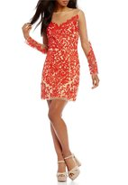 GB Long Sleeve Embroidered Sheath Dress