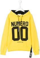 Numero00 Kids slogan front hoodie