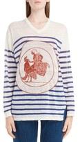 Loewe Women's Stripe Linen Sweater