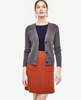 Ann Taylor Ribbed Cashmere Cardigan