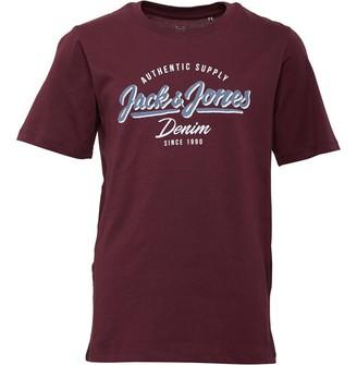 Jack and Jones Junior Boys Logo O-Neck Short Sleeve T-Shirt Port Royale
