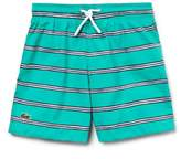 Lacoste Stripe Swim Trunks