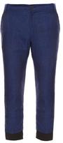 Haider Ackermann Cropped Linen Trousers