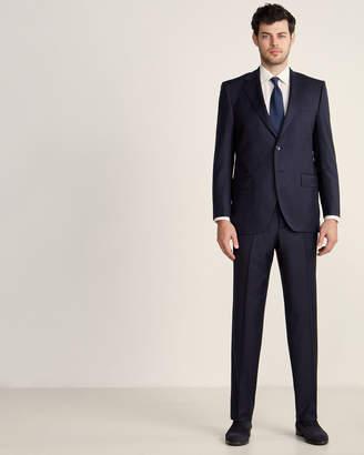 Luigi Bianchi Mantova Zegna Fabric Suits By Two-Piece Navy Chevron Pinstripe Wool Suit