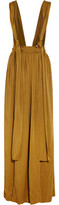 Lanvin Washed-Satin Maxi Skirt