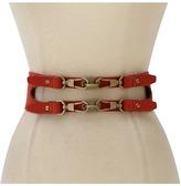 Rachel Zoe Double Darren Clip Waist Belt (Orange) - Apparel