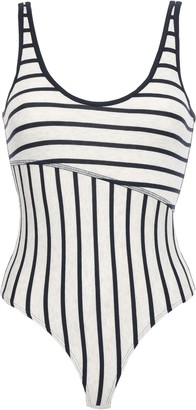 ATM Anthony Thomas Melillo Striped Stretch Ribbed Micro Modal-jersey Bodysuit