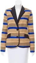 Sea Striped Linen-Blend Blazer w/ Tags