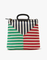 Clare Vivier Marcelle Canvas in Mariner Stripe Patchwork