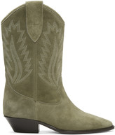 Isabel Marant Taupe Suede Dallin Cowboy Boots