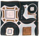 Elie Saab tile print scarf